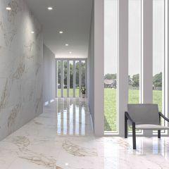 Capraia Rectified Porcelain Floor & Wall Tile 60x120cm (Gold)
