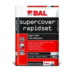 BAL Supercover Rapidset Adhesive Grey 15 kg