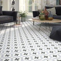 1900 Calvet Ceramic Floor & Wall Tile 20x20cm (Grey)