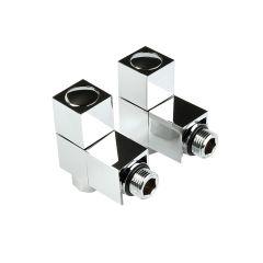 Intatec Angled Square Chrome Radiator valve