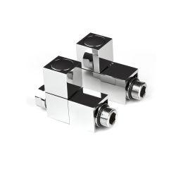Intatec Straight Square Chrome Radiator Valve