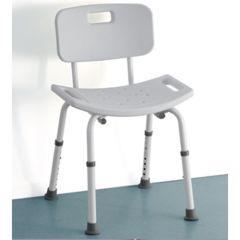 Steel Shower Stool with Backrest