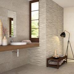 Concrete Ceramic Wall Tile 28x85cm (Bone)