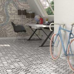 World Parks Vondel Ceramic Floor & Wall Tile 31.6x31.6cm (Multicolour)