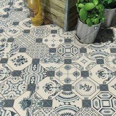 World Parks Retiro Ceramic Floor & Wall Tile 31.6x31.6cm (Multicolour)
