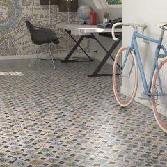 World Parks Hyde Ceramic Floor & Wall Tile 31.6x31.6cm (Multicolour)