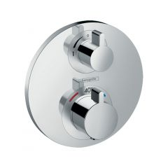 Hansgrohe Ecostat S Thermostatic Mixer For Concealed Installation For 2 Outlets With Shut-Off / Diverter Valve