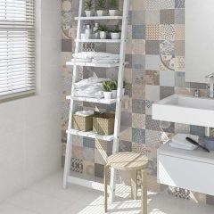 Alpha Syrna Porcelain Floor & Wall Tile 30x60cm (Multicolour)