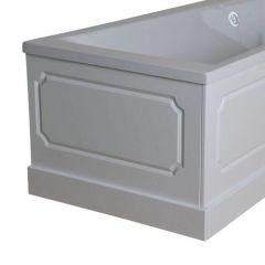 750mm End Bath Panel with Plinth (White ash effect)