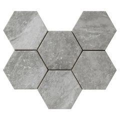 Bistrot Matt Porcelain Floor & Wall Tile 21x18.2cm (Crux Grey)
