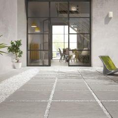Concept Rectified Matt Porcelain R11 Outdoor Tile 60x60cm (Grigio)