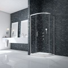 Merlyn Essence 8mm Framed 900x760mm 1 Door Offset Quadrant Shower Enclosure
