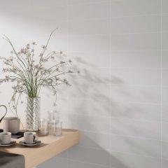 Metro Ceramic Matt Wall Tile 10x30cm (White)