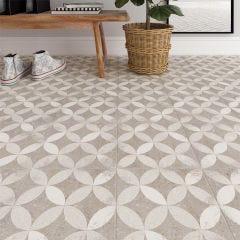 Nassau Kerala Porcelain Floor & Wall Tile 20x20cm (Grey)