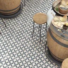 Nassau Kerala Porcelain Floor & Wall Tile 20x20cm (Negro)