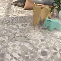 Nassau Berkane Porcelain Floor & Wall Tile 20x20cm (Multicolour)