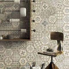 Eden Hex Porcelain Décor Tile 21x18.2cm (Romance Cotone)