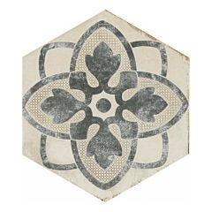 Eden Tappeto Hex Porcelain Décor Tile 21x18.2cm (Cotone)